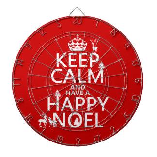平静を保ち、持って下さい幸せなNoel (クリスマス)を ダーツボード