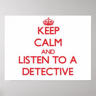 平静を保ち、探偵に聞いて下さい ポスター