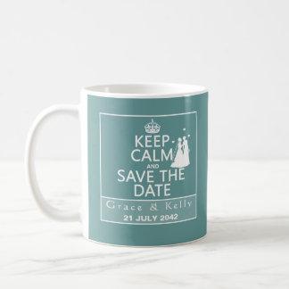 平静を保ち、日付のレズビアンの結婚式を救って下さい コーヒーマグカップ