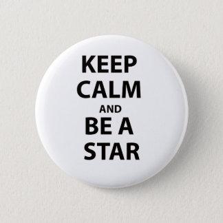 平静を保ち、星があって下さい 5.7CM 丸型バッジ