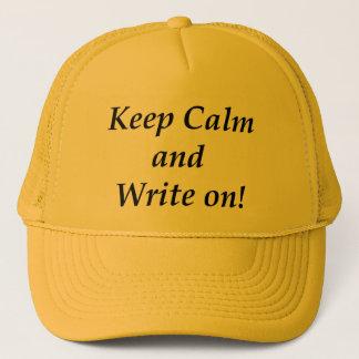 平静を保ち、書いて下さい キャップ