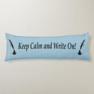 平静を保ち、書いて下さい! クイルインク抱き枕 ボディピロー