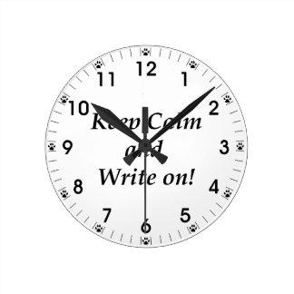 平静を保ち、書いて下さい ラウンド壁時計