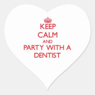 平静を保ち、歯科医とパーティを楽しんで下さい ハートシール