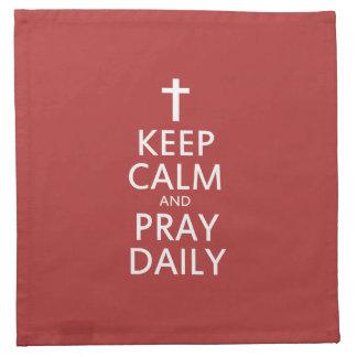 平静を保ち、毎日祈って下さい ナプキンクロス