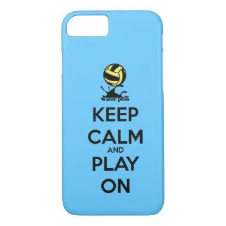 """""""平静を保ち""""、水球のiPhone 7の場合で遊んで下さい iPhone 8/7ケース"""