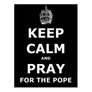 平静を保ち、法皇のために祈って下さい ポストカード
