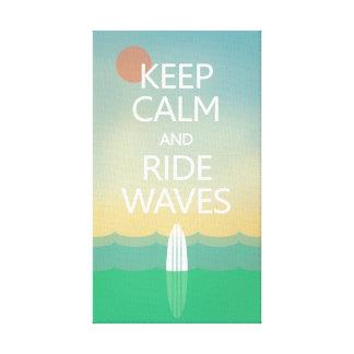 平静を保ち、波に乗って下さい キャンバスプリント