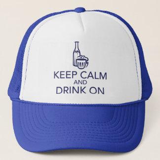 平静を保ち、海軍トラック運転手の帽子で飲んで下さい キャップ