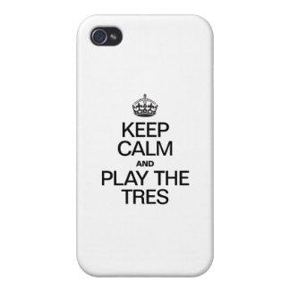平静を保ち、演劇をTRES遊んで下さい iPhone 4 カバー