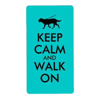平静を保ち、犬の歩くのラブラドールで歩かせて下さい ラベル