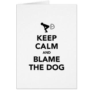 平静を保ち、犬を責任にして下さい カード
