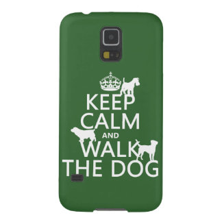 平静を保ち、犬-すべての色歩かせて下さい GALAXY S5 ケース