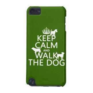 平静を保ち、犬-すべての色歩かせて下さい iPod TOUCH 5G ケース