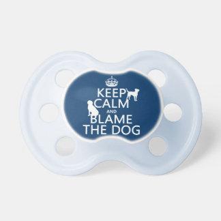 平静を保ち、犬-すべての色--を責任にして下さい おしゃぶり