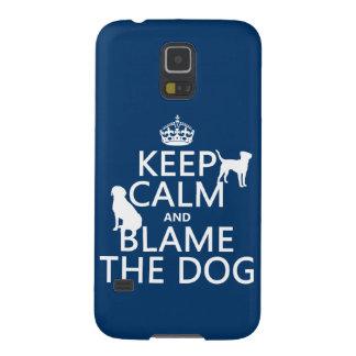 平静を保ち、犬-すべての色--を責任にして下さい GALAXY S5 ケース