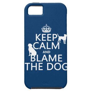 平静を保ち、犬-すべての色--を責任にして下さい iPhone SE/5/5s ケース