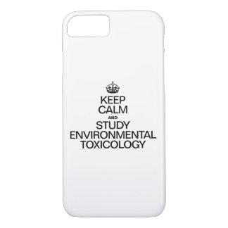 平静を保ち、環境毒物学を調査して下さい iPhone 8/7ケース