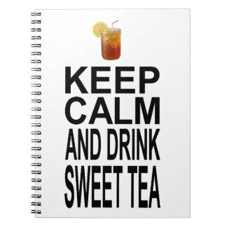 平静を保ち、甘い茶を飲んで下さい ノートブック