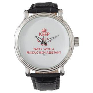 平静を保ち、生産の助手とパーティを楽しんで下さい 腕時計
