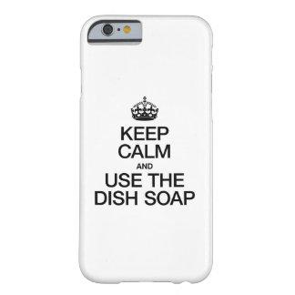 平静を保ち、皿の石鹸を使用して下さい BARELY THERE iPhone 6 ケース