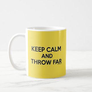 平静を保ち、砲丸投げマグのギフトずっと投げて下さい コーヒーマグカップ