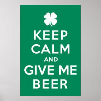 平静を保ち、私にビールを与えて下さい ポスター