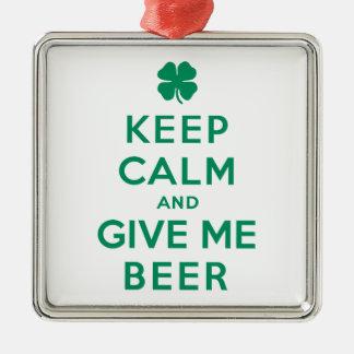 平静を保ち、私にビールを与えて下さい メタルオーナメント