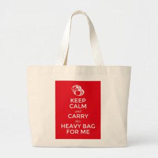 平静を保ち、私のためのこの重いバッグを運んで下さい、 ラージトートバッグ