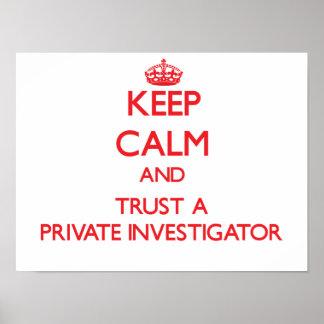 平静を保ち、私立探偵を信頼して下さい ポスター