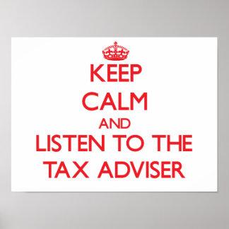 平静を保ち、税務顧問に聞いて下さい ポスター