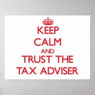 平静を保ち、税務顧問を信頼して下さい ポスター