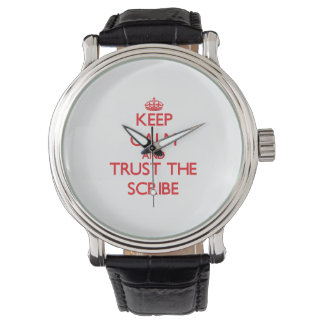 平静を保ち、筆記者を信頼して下さい 腕時計
