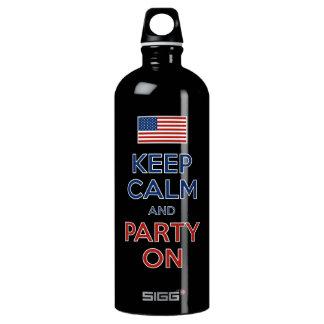 平静を保ち、米国の旗で7月第4パーティを楽しんで下さい ウォーターボトル