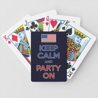 平静を保ち、米国の旗で7月第4パーティを楽しんで下さい バイスクルトランプ