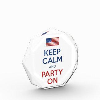 平静を保ち、米国の旗で7月第4パーティを楽しんで下さい 表彰盾