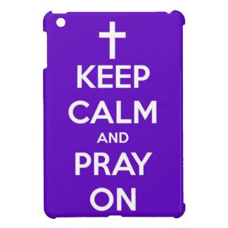 平静を保ち、紫色のiPad Miniケースで祈って下さい iPad Mini カバー