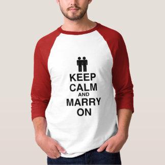 平静を保ち、結婚して下さい(ゲイ Tシャツ