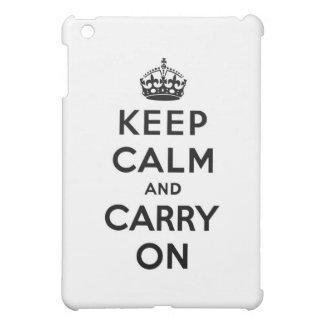 平静を保ち、続けていって下さい iPad MINIケース
