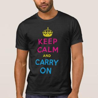 平静を保ち、続けていって下さい Tシャツ