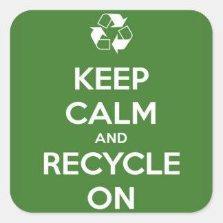 平静を保ち、緑でリサイクルして下さい スクエアシール