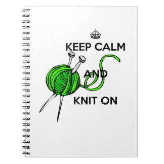 平静を保ち、編んで下さい ノートブック