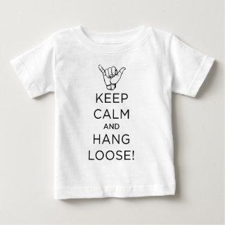 平静を保ち、緩いb.pngをつるして下さい ベビーTシャツ