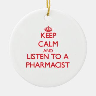 平静を保ち、薬剤師に聞いて下さい セラミックオーナメント