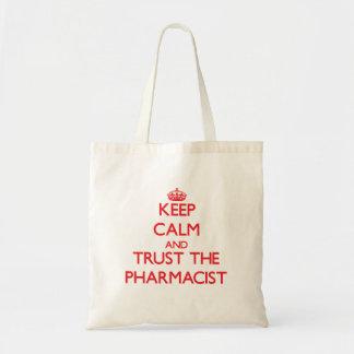 平静を保ち、薬剤師を信頼して下さい トートバッグ