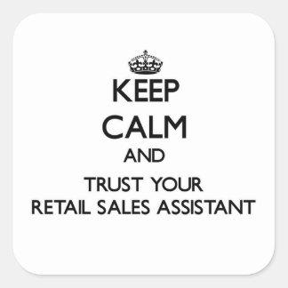 平静を保ち、補助あなたの小売り小売販売を信頼して下さい スクエアシール