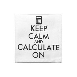 平静を保ち、計算機のカスタムで計算して下さい ナプキンクロス