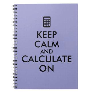 平静を保ち、計算機のカスタムで計算して下さい ノートブック