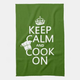 平静を保ち、調理して下さい キッチンタオル