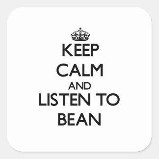 平静を保ち、豆に聞いて下さい スクエアシール